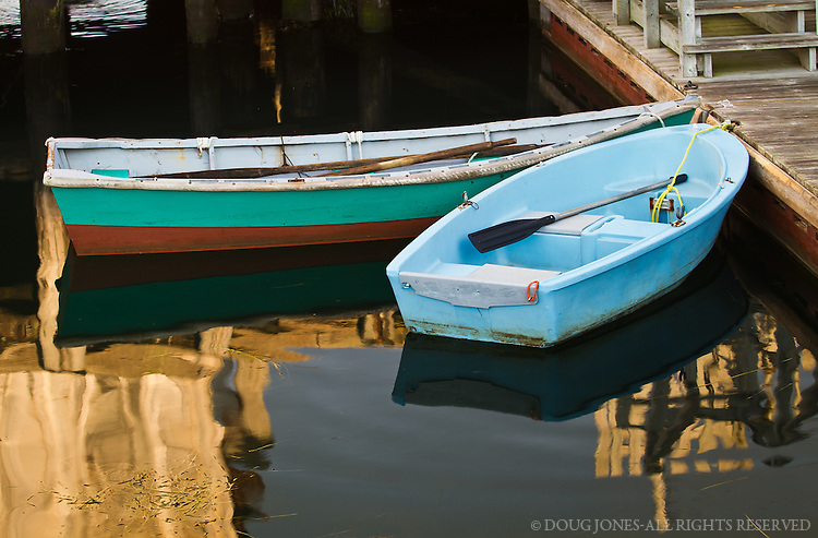 ...used as dinghies by local fishermen to get to their boats moored in the harbor.