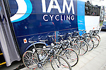 IAM Cycling Scott team bikes lined up outside the team bus before the start of the 56th edition of the E3 Harelbeke, Belgium, 22nd  March 2013 (Photo by Eoin Clarke 2013)