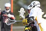 Palos Verdes, CA 03/30/10 -   in action during the Palos Verdes-Peninsula JV Boys Lacrosse game.