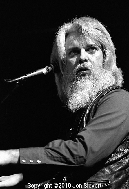 "Leon Russell, March 3, 1981, Great American Music Hall, San Francisco. American singer-songwriter, pianist, and guitarist first best known as a session player who played on hundreds of songs by some of the biggest names in popular music, including B.B. King, George Harrison, Eric Clapton, Bob Dylan. With his own band. During 1972, his album ""Carney"" scored #2 on the U.S. Charts"