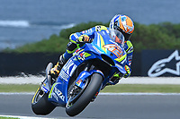 October 27, 2018: Alex Rins (SPA) on the No.42 Suzuki from Team Suzuki Ecstar during practice session three at the 2018 MotoGP of Australia at Phillip Island Grand Prix Circuit, Victoria, Australia. Photo Sydney Low