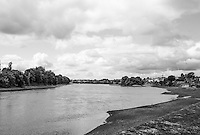"""Chiswick. Greater London. General View of the """"Hammersmith Bend"""" - looking back towards Chiswick Eyot and """"Corney Reach"""" Chiswick Mall and embankment  Leading from Chiswick to Fulham Reach RC. Sunday.  24.07.2016  [Mandatory Credit: Peter Spurrier/Intersport-images.com]"""
