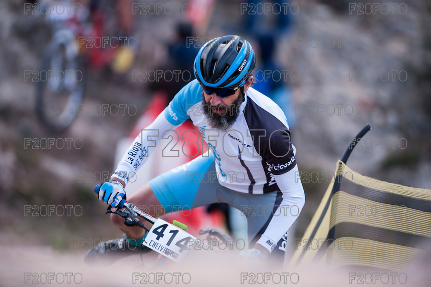 Chelva, SPAIN - MARCH 6: Luis Alarcon during Spanish Open BTT XCO on March 6, 2016 in Chelva, Spain