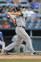 Lexington Legends second baseman John Hinson #3 swings at a pitch during a game against the Asheville Tourists at McCormick Field on May 6, 2012 in Asheville, North Carolina . The Tourists defeated the Legends 8-5. (Tony Farlow/Four Seam Images).