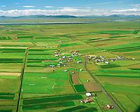 Þykkvibær séð til norðvesturs, Rangárþing ytra áður Djúpárhreppur / Thykkvibaer viewing northwest, Rangarthing ytra former Djuparhreppur.