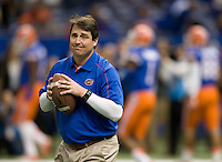 Florida Gators head coach Will Muschamp on the field before during 79th Sugar Bowl game at Mercedes-Benz Superdome in New Orleans, Louisiana on January 2nd, 2013.   Louisville Cardinals defeated Florida Gators, 33-23.