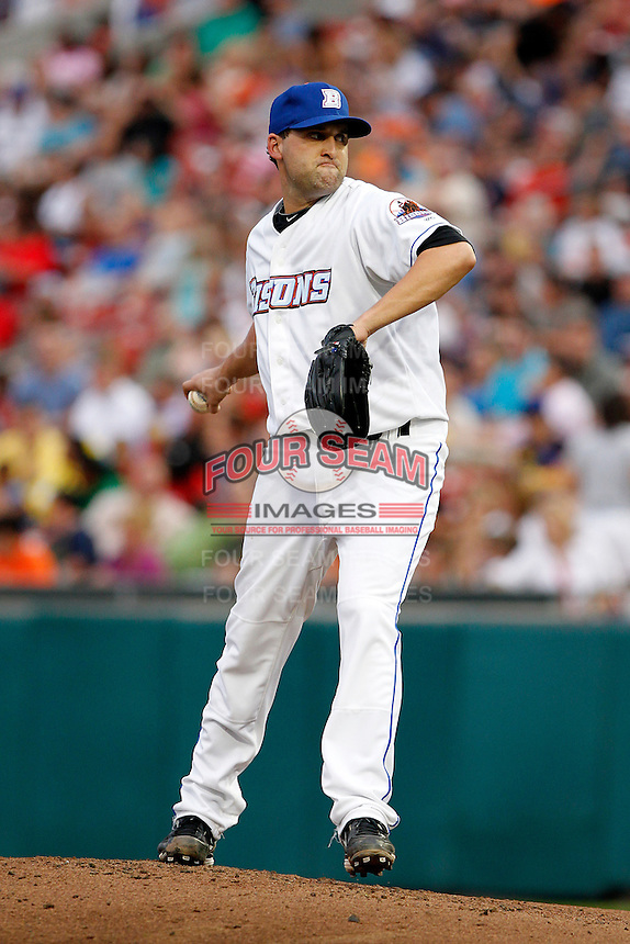 Buffalo Bisons pitcher Jack Egbert #20 during a game against the Syracuse Chiefs at Coca-Cola Field on September 1, 2011 in Buffalo, New York.  Syracuse defeated Buffalo 6-2.  (Mike Janes/Four Seam Images)