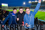Dara O'Shea, Patrick Devane and Dylan Murphy, St Mary's fans pictured at the All Ireland Intermediate football final held in Croke Park on Sunday