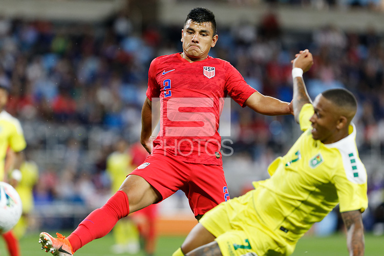 St. Paul, MN - Tuesday June 18, 2019: Nick Lima of the United States during a 2019 CONCACAF Gold Cup group D match between the United States and Guyana on June 18, 2019 at Allianz Field in Saint Paul, Minnesota.