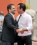 Justin Theroux and Brett Ratner at The Jennifer Aniston Hand and Footprints Ceremony held at The Grauman's Chinese Theatre in Hollywood, California on July 07,2011                                                                               © 2011 DVS / Hollywood Press Agency