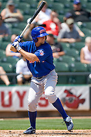 Iowa Cubs LF Ty Wright (22) at bat against the Round Rock Express on April 10th, 2011 at Dell Diamond in Round Rock, Texas.  (Photo by Andrew Woolley / Four Seam Images)