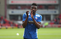 Bolton Wanderers' Sammy Ameobi during the pre-match warm-up <br /> <br /> Photographer Rachel Holborn/CameraSport<br /> <br /> The EFL Sky Bet Championship - Barnsley v Bolton Wanderers - Saturday 14th April 2018 - Oakwell - Barnsley<br /> <br /> World Copyright &copy; 2018 CameraSport. All rights reserved. 43 Linden Ave. Countesthorpe. Leicester. England. LE8 5PG - Tel: +44 (0) 116 277 4147 - admin@camerasport.com - www.camerasport.com