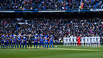 Players of Real Madrid and line up and Deportivo Alaves pose for photos prior to the La Liga 2017-18 match between Real Madrid and Deportivo Alaves at Santiago Bernabeu Stadium on February 24 2018 in Madrid, Spain. Photo by Diego Souto / Power Sport Images