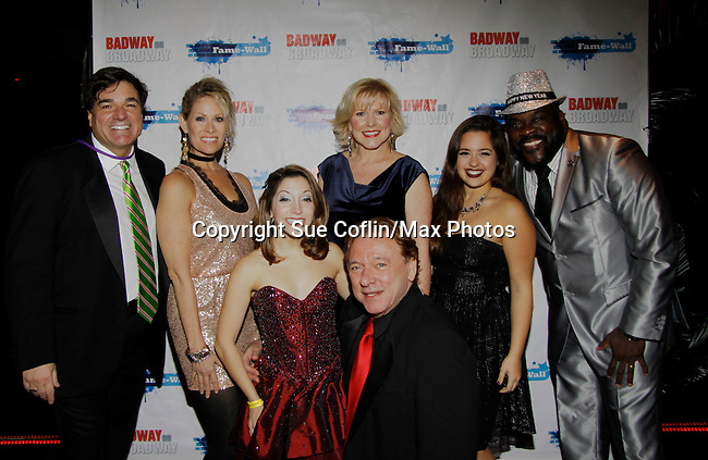 Dale Badway and Jodi Stevens who performed with Ken Lundie - Christina Bianco - Missy Keene - Marilyn Conserta - Phillip Boykin (Porgy and Bess)  - New Year's Eve 2016 and Times Square Ball Drop at The Copacabana, New York City, New York. (Photo by Sue Coflin/Max Photos)  suemax13@optonline.net