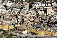 Blick vom Burghügel auf San Mateo und Santa Maria (vorn) in Lorca,  Provinz Murcia, Spanien, Europa
