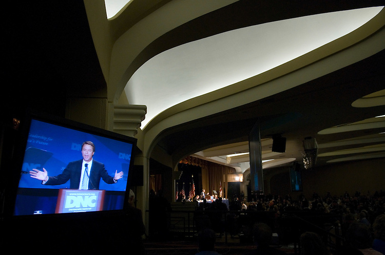 Former Sen. John Edwards, D-N.C., speaks during the Democratic National Committee winter meeting at the Washington Hilton on Friday, Feb. 2, 2007.