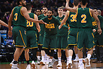 MILWAUKEE, WI - MARCH 16:  The Vermont Catamounts bench celebrates during the first half of the 2017 NCAA Men's Basketball Tournament held at BMO Harris Bradley Center on March 16, 2017 in Milwaukee, Wisconsin. (Photo by Jamie Schwaberow/NCAA Photos via Getty Images)