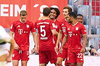 13th June 2020, Allianz Erena, Munich, Germany; Bundesliga football, Bayern Munich versus Borussia Moenchengladbach; Joshua ZIRKZEE, FCB celebrates his goal for 1-0 in the 26th minute