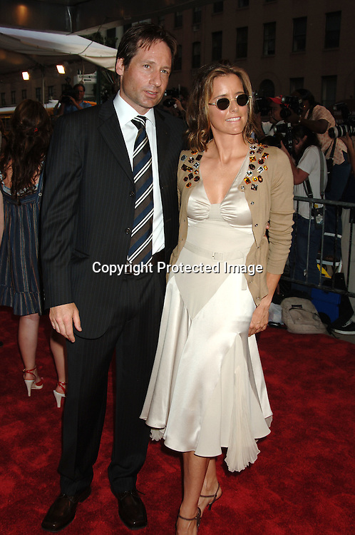 """David Duchovny and wife Tea Leoni..at The New York Premiere of """"Trust The Man"""" directed..by Bart Freundlich and starring Julianne Moore, David ..Duchovny, Billy Crudup, Eva Mendes and Maggie Gyllenhaal on August 7, 2006 at The Chelsea West Cinemas...Robin Platzer, Twin Images"""