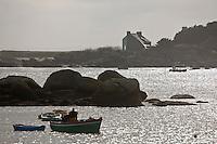 Europe/France/Bretagne/29/Finistère/Brignogan:  Pêcheurs au retour de pêche à la Plage des Crapauds