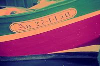 Europe/France/Bretagne/56/Morbihan/Quiberon: détail bateau de pèche à Port Haliguen