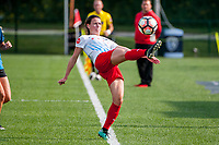 Kansas City, MO - Saturday September 9, 2017: Taylor Comeau during a regular season National Women's Soccer League (NWSL) match between FC Kansas City and the Chicago Red Stars at Children's Mercy Victory Field.