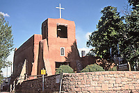 Mission San Miguel, oldest chapel in U. S.A., Santa Fe, New Mexico