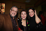 Another World's Christine Andreas (Dr. Taylor Benson) and husband composer Martin Silvestri and Lois Robbins (Loving, All My Children and Ryan's Hope attend Psycho Therapy on February 7, 2012 at the Cherry Lane Theatre, New York City, New York. After party at Sushi Samba, NYC. (Photo by Sue Coflin/Max Photos)
