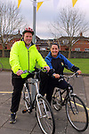 Operation Transformation Leader Mark McArdle with Cllr. Delores Minogue at the Operation Transformation 10km cycle from Ardee Parish Centre.