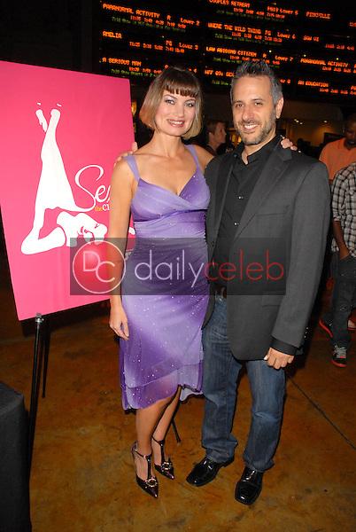 "Rena Riffel and director Jeffrey Schwarz<br /> at the Hollywood Film Festival screening of ""Starz Inside: Sex and the Cinema,"" Arclight Cinemas, Hollywood, CA. 10-23-09<br /> David Edwards/Dailyceleb.com 818-249-4998"