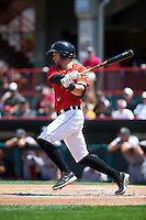 Erie Seawolves center fielder Connor Harrell (10) at bat during a game against the Altoona Curve on July 10, 2016 at Jerry Uht Park in Erie, Pennsylvania.  Altoona defeated Erie 7-3.  (Mike Janes/Four Seam Images)