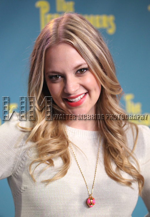 "Actress Jenni Barber attends press event to introduce the cast and creators of the new Broadway play ""The Performers""at the Hard Rock Cafe on Tuesday, Sept. 25, 2012 in New York."
