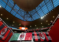 AC Milan fans and banners before the UEFA Europa League round of 16 2nd leg match between Arsenal and AC Milan at the Emirates Stadium, London, England on 15 March 2018. Photo by Vince  Mignott / PRiME Media Images.