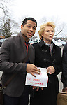 "OLTL Corbin Bleu ""Jeffrey King"" & Erika Slezak - Welcome Back Rally to mark the returns of former ABC soap opera One Life To Live and All My Children. Due to overwhelming fan demand, both long-running dramas are being re-launched by producer Prospect Online Network (TOLN). The rally is in front of the Connecticut Film Center in Stamford, CT where the shows are now being produced on March 18, 2013 to coincide with OLTL's first tape date. (Photo by Sue Coflin/Max Photos)"