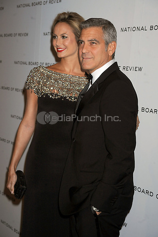 Stacy Keibler and George Clooney at the 2011 National Board of Review Awards gala at Cipriani 42nd Street on January 10, 2012 in New York City Credit: Dennis Van Tine/MediaPunch