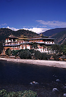 Punakha Dzong, the winter home of the government of the Buddhist Kingdom of Bhutan. Punakha Dzong. Punakha, Bhutan Punakha Dzong.