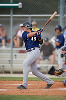 Sal Stewart (48) during the WWBA World Championship at the Roger Dean Complex on October 12, 2019 in Jupiter, Florida.  Sal Stewart attends Westminster Christian High School in Miami, FL and is committed to Vanderbilt.  (Mike Janes/Four Seam Images)