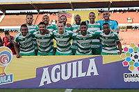CUCUTA - COLOMBIA, 24-08-2019: Jugadores del Equidad posan para una foto previo al encuentro por la fecha 8 de la Liga Águila II 2019 entre Cúcuta Deportivo y La Equidad jugado en el estadio General Santander de la ciudad de Cúcuta. / Players of Equidad pose to a photo prior the match between Cucuta Deportivo and La Equidad for the date 8 of the Liga Aguila II 2019 played at the General Santander stadium in Cucuta city. Photo: VizzorImage / Manuel Hernandez / Cont