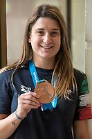 Elena Bertocchi Bronze medal women's 1m Springboard <br /> 19/07/2017 <br /> XVII FINA World Championships Aquatics<br /> Margaret Island <br /> Budapest Hungary <br /> Photo Andrea Staccioli/Deepbluemedia/Insidefoto