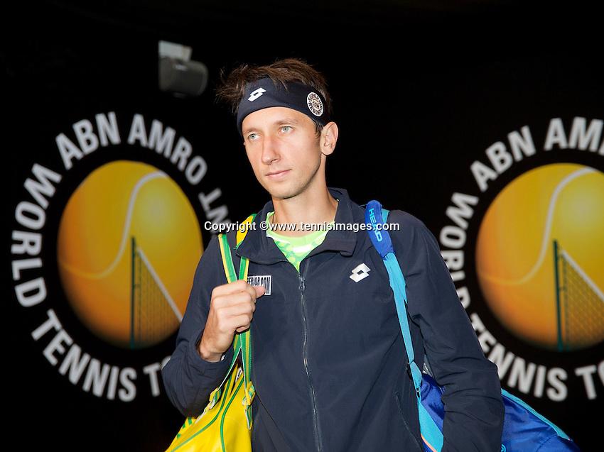 Februari 11, 2015, Netherlands, Rotterdam, Ahoy, ABN AMRO World Tennis Tournament, Sergiy Stakhovsky (UKR)<br /> Photo: Tennisimages/Henk Koster