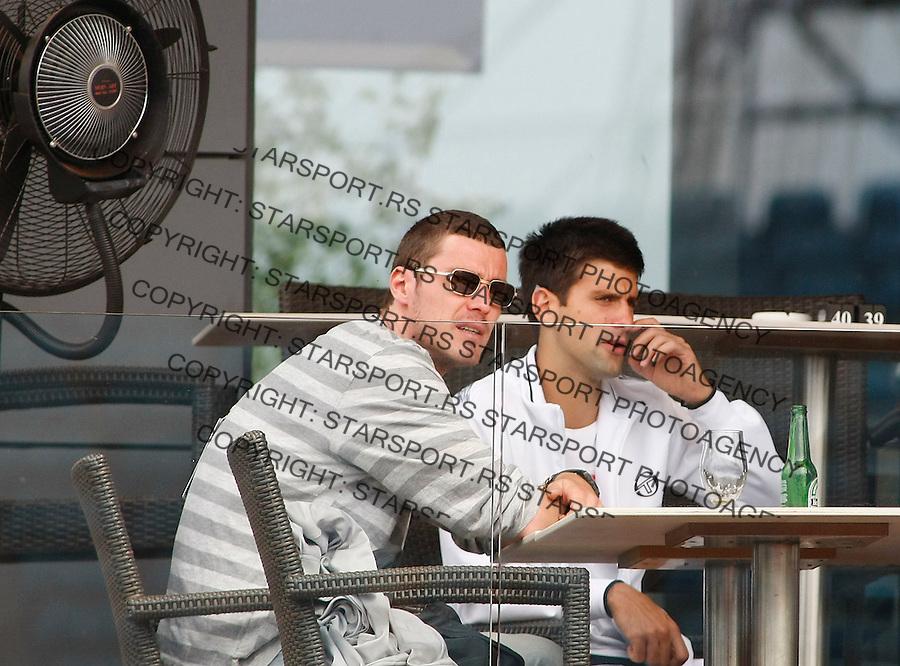 Tenis, .SERBIA OPEN 2010.John Isner Vs. Josselin Ouanna.Novak Djokovic, right and Marat Safin.Belgrade, 06.05.2010..foto: Srdjan Stevanovic/Starsportphoto ©