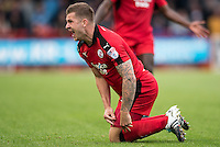James Collins of Crawley Town (19) appeals for the foul  during the Sky Bet League 2 match between Crawley Town and Luton Town at the Broadfield/Checkatrade.com Stadium, Crawley, England on 17 September 2016. Photo by Edward Thomas / PRiME Media Images.