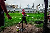 HAVANA, CUBA - JUNE 17: Cuban children at baseball practice on 17th June, 2015 in Havana, Cuba. <br /> Daniel Berehulak for Panasonic/Lumix