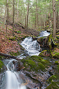 Cascade along Russell Pond Brook in Woodstock, New Hampshire during the spring months. This is possibly the forgotten Russell Pond Brook Falls.