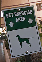 Palm Springs, CA, Pet Exercise Area, Sign