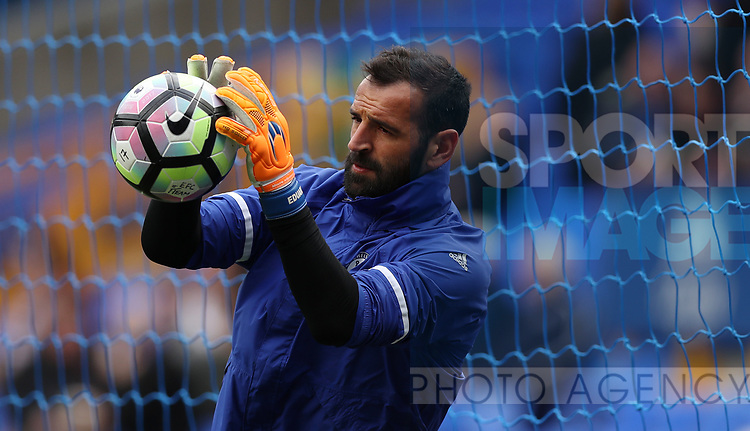 Eduardo of Chelsea during the English Premier League match at Goodison Park , Liverpool. Picture date: April 30th, 2017. Photo credit should read: Lynne Cameron/Sportimage