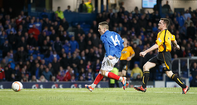 GOAL 7<br /> Barrie McKay nips in to round off the scoring and get his second and Rangers seventh goal of the game