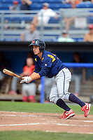 State College Spikes outfielder Jimmy Bosco #15 during a game against the Batavia Muckdogs on June 30, 2013 at Dwyer Stadium in Batavia, New York.  State College defeated Batavia 7-2.  (Mike Janes/Four Seam Images)