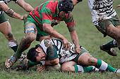 N. Jones tries to claim tackle ball from R. Asaera. Counties Manukau Premier 1 McNamara Cup round 2 rugby game between Manurewa & Waiuku played at Mountfort Park, Manurewa on the 30th of June 2007. Manurewa led 19 - 3 at halftime and went on to win 31 - 3.