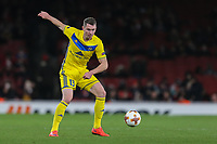 Nikolai SIGNEVICH of FC BATE Borisov during the UEFA Europa League match between Arsenal and FC BATE Borisov  at the Emirates Stadium, London, England on 7 December 2017. Photo by David Horn.